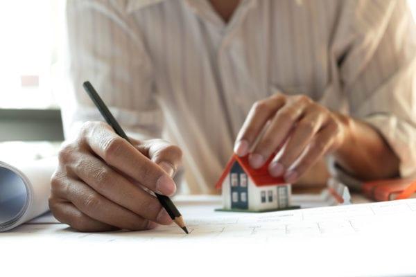 architect designing home